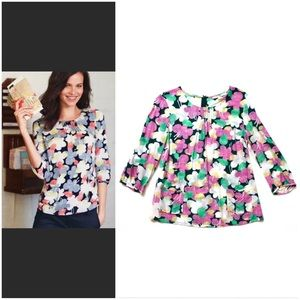 Boden Printed Pocket Top Retro Floral